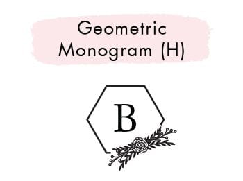 Geometric Monogram (H)