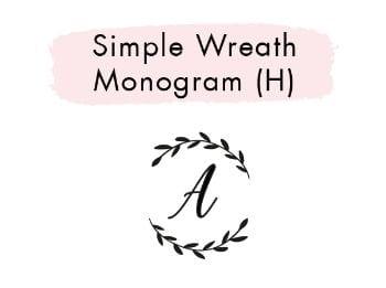 Simple Wreath Monogram (H)
