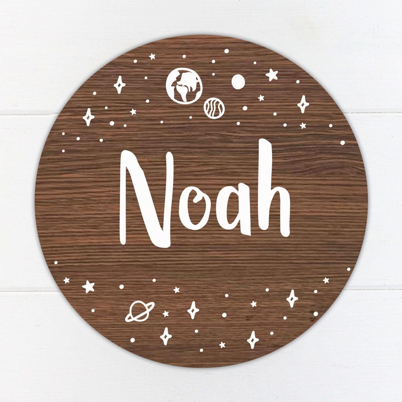 Custom Nursery Name Sign / Baby Door Sign / Baby Room Decor - Space Design