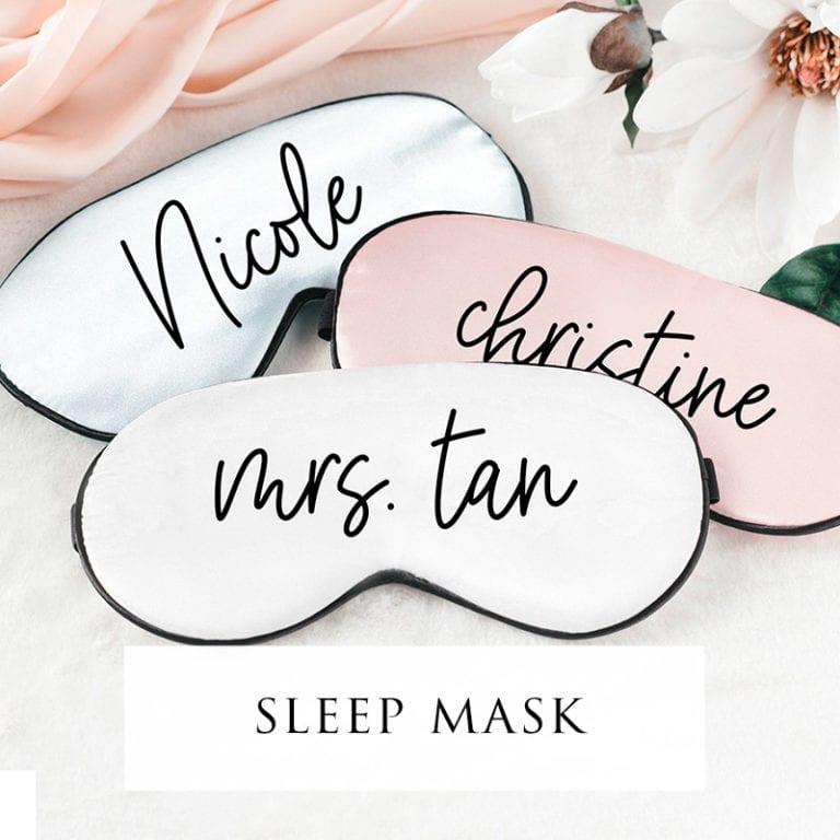 8-bridal-showersleep mask