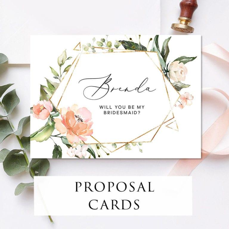 Bridal-showerproposal cards