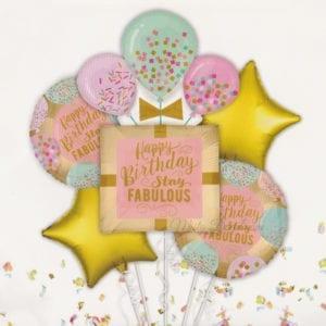 Confetti Happy Birthday Foil balloons