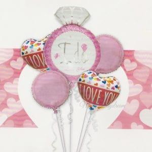I-do-Diamond-Ring foil balloons